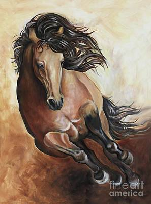 Painting - The Buckskin Gallop by Debbie Hart