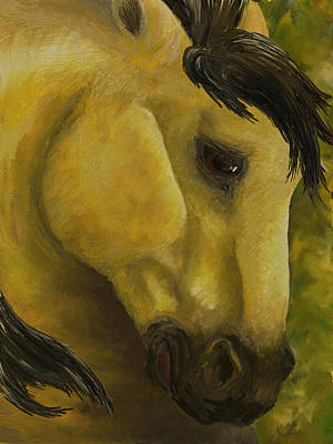 Painting - The Buckskin Revisited by K Simmons Luna