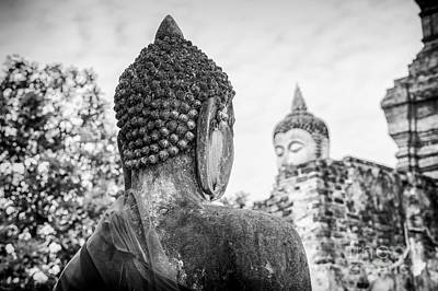 Photograph - The Buddha Statues Of Watyaichaimongkhol by Rene Triay Photography
