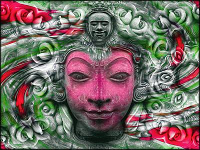 Asian Photograph - The Buddhas Of Hyandhara - Green  by Daniel Arrhakis