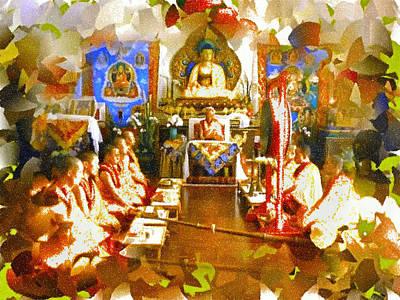 Sangha Photograph - The Buddhist Sangha by Mario Carini