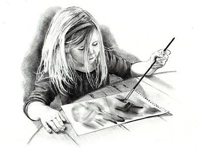 Creativity Drawing - The Budding Artist by Joyce Geleynse