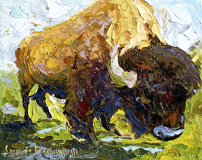 Painting - The Buffalo by Lewis Bowman