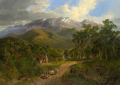 Painting - The Buffalo Ranges by Nicholas Chevalier