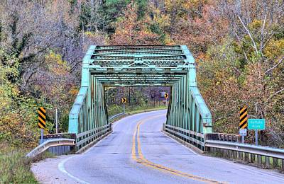 Photograph - The Buffalo River Bridge by JC Findley
