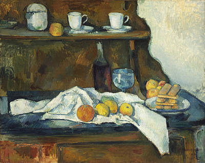 The Buffet Painting - The Buffet 1877 by Paul Cezanne