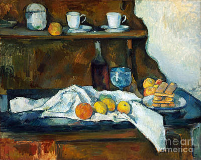 Buffet Painting - The Buffet by Cezanne