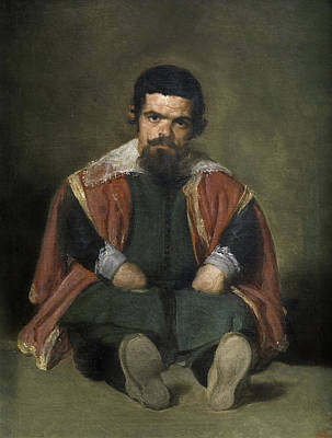 Baroque Painting - The Buffoon El Primo by Diego Velazquez