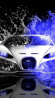 Digital Art - The Bugatti Splash Experience  Abstract  by Sheila Mcdonald