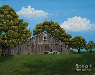 Painting - The Buggy Shed by Billinda Brandli DeVillez