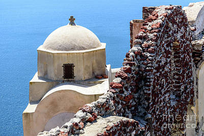 Photograph - The Buildings And Walls Of Oia, Santorini, Greece by Global Light Photography - Nicole Leffer