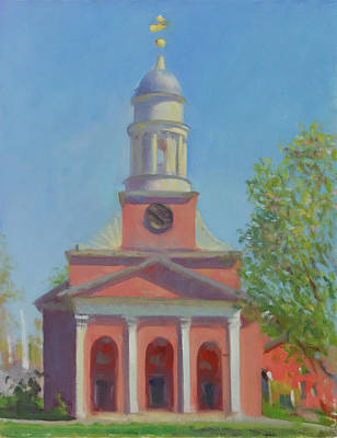 Wall Art - Painting - The Bulfinch In Spring by John Folley