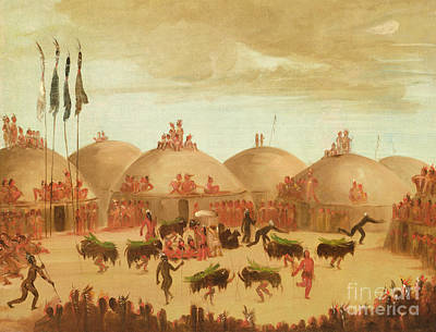The Bull Dance Art Print by George Catlin