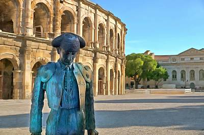 Bull Fighter Photograph - The Bull Fighter Nimes by Scott Carruthers