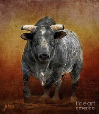 Mixed Media - The Bull by Jim Hatch