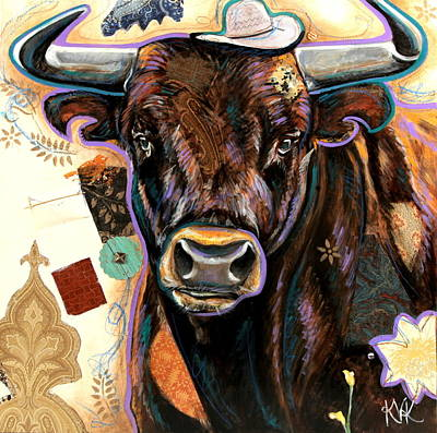 Mixed Media - The Bull by Katia Von Kral