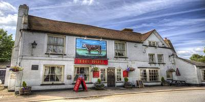 Photograph - The Bull Pub Theydon Bois Panorama by David Pyatt