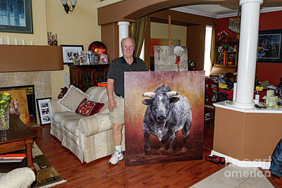 Digital Art - The Bull Sold by Jim Hatch
