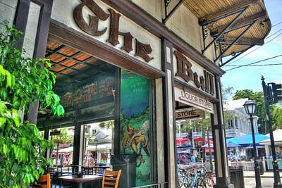 Photograph - The Bull Bar - Key West, Florida by Timothy Lowry
