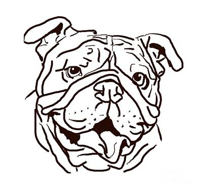 English Bulldog Drawing Drawing - The Bulldog Love Of My Life by I Am Lalanny