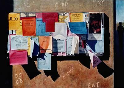 The Bulletin Board Art Print by Doug Strickland