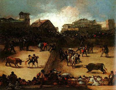 Bullfight Digital Art - The Bullfight  by Francisco de Goya