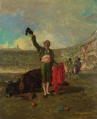 Torero Wall Art - Painting - The Bullfighter's Salute  by Mariano Fortuny