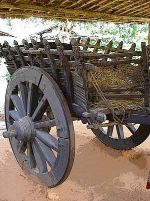The Bullock Cart Art Print by Padamvir Singh