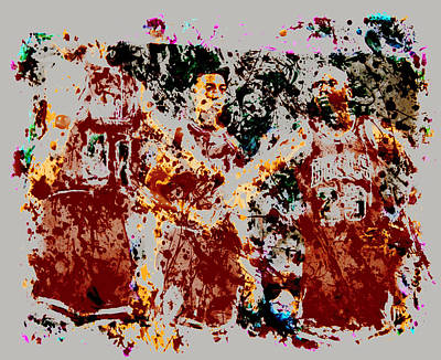 Blake Griffin Painting - The Bulls Throwback by Brian Reaves