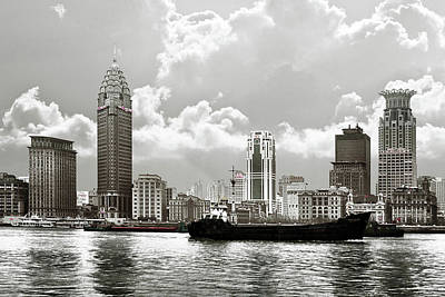 Steeple Photograph - The Bund - Old Shanghai China - A Museum Of International Architecture by Christine Till
