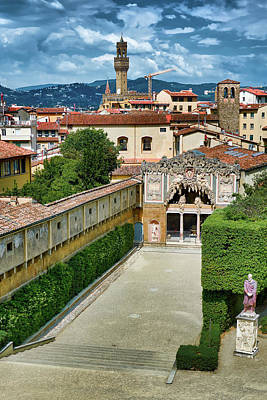 Photograph - The Buontalenti Grotto From The Pitti Palace by Eduardo Jose Accorinti