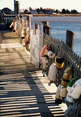 Photograph - The Buoy Fence by John Scates