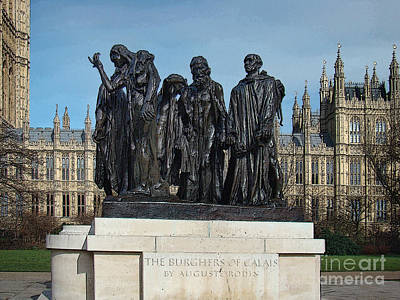 Canadian Parliament Photograph - The Burghers Of Calais, In London, By Rodin by Al Bourassa