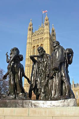 Photograph - The Burghers Of Calais London by Terri Waters