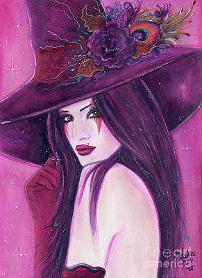 Painting - The Burgundy Witch by Renee Lavoie