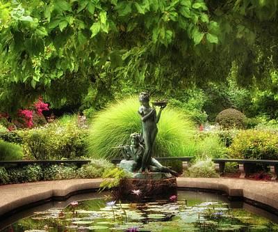 The Burnett Fountain Art Print by Jessica Jenney