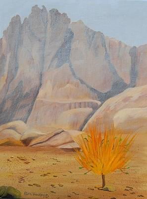 Burning Bush Painting - The Burning Bush Donated by Ruth  Housley