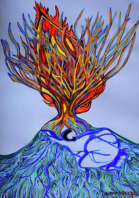 Painting - The Burning Bush by Gloria Ssali