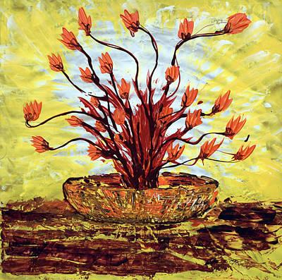 The Burning Bush Art Print by J R Seymour