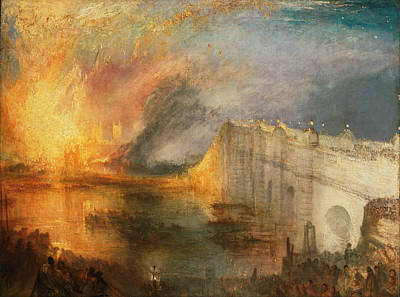 Painting - The Burning Of The Houses Of Lords And Commons by William Turner