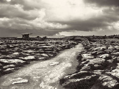 Photograph - The Burren Ireland With Poulnabrone Dolmen by Menega Sabidussi