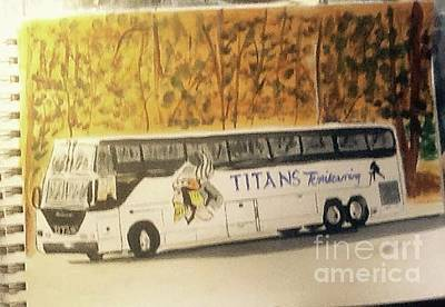 Painting - The Bus by Audrey Pollitt