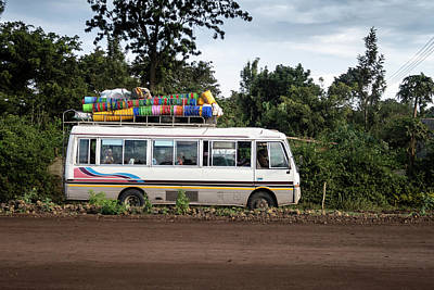 Photograph - The Bus Of Buckets by Mary Lee Dereske