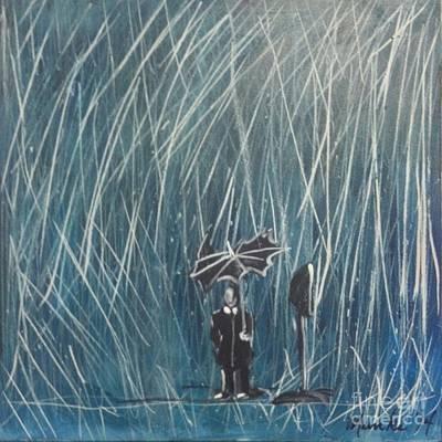 Painting - The Bus Stop by John Stillmunks