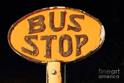 The Bus Stop Art Print by Rick Mann