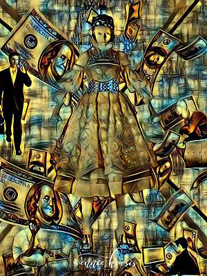 Digital Art - The Business Of Humans by Vennie Kocsis