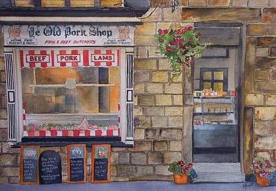The Butcher Shop Art Print by Victoria Heryet