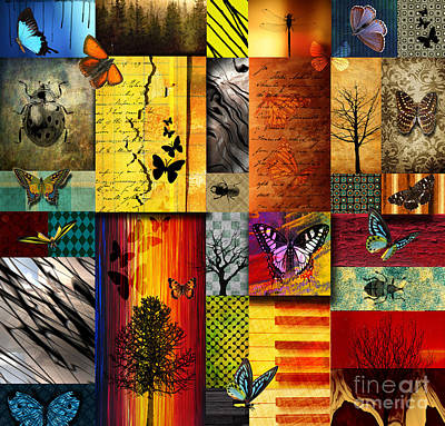 Texture Wall Art - Painting - The Butterfly Effect by Ramneek Narang