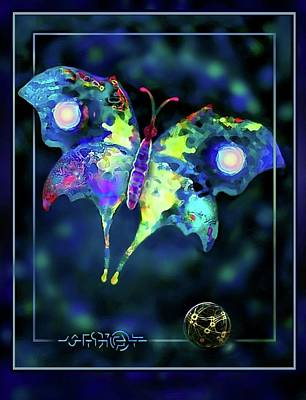 Digital Art - The Butterfly Mission by Hartmut Jager