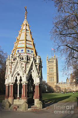 Photograph - The Buxton Memorial Fountain London by Terri Waters